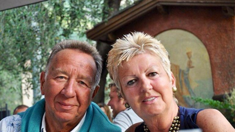Retired printer John Stocker, 74, and his wife, 63-year-old Janet