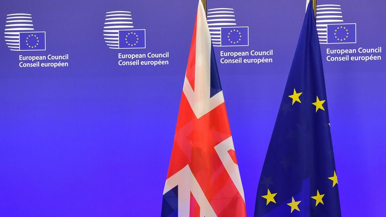UK and EU flags