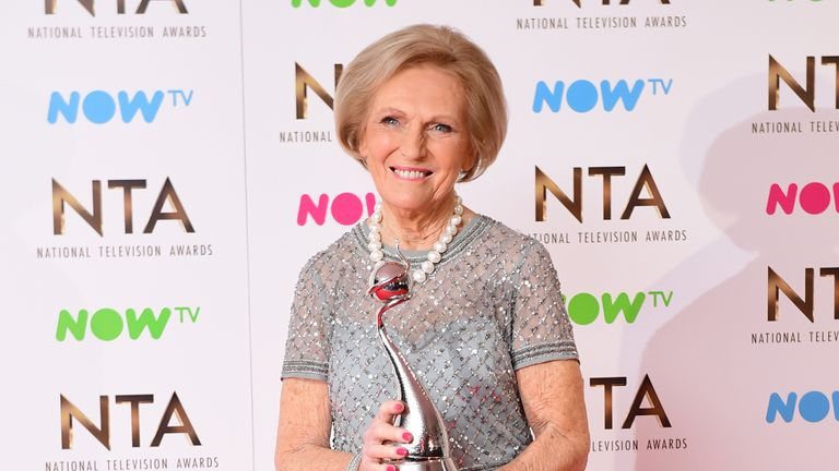 Great British Bake Off's Mary Berry picked up the top TV judge accolade