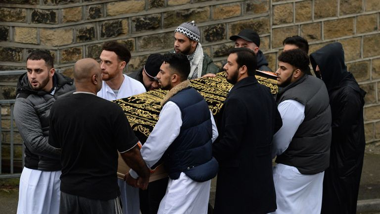 The coffin of Mohammed Yassar Yaqub