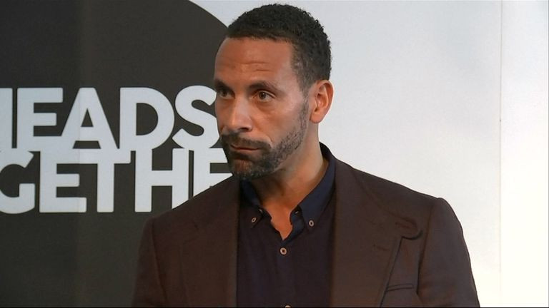 Rio Ferdinand supports the Heads Together project
