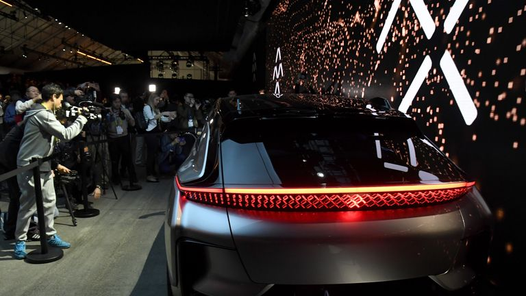 Faraday Future's FF91 prototype