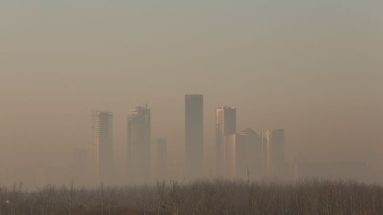 Pollution levels in the city often breach World Health Organisation danger levels