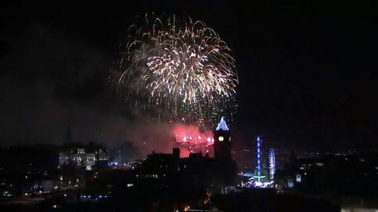 This was the scene in Edinburgh where the Midnight Moment took place as part of Hogmanay celebrations