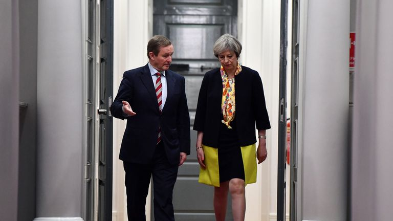 British Prime Minister Theresa May and Irish Taoiseach Enda Kenny