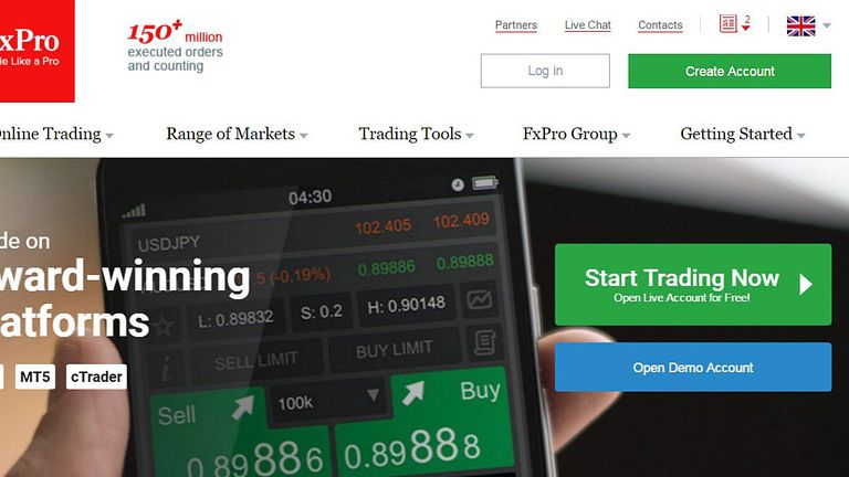 FxPro operates several platforms specialising in currencies and commodities