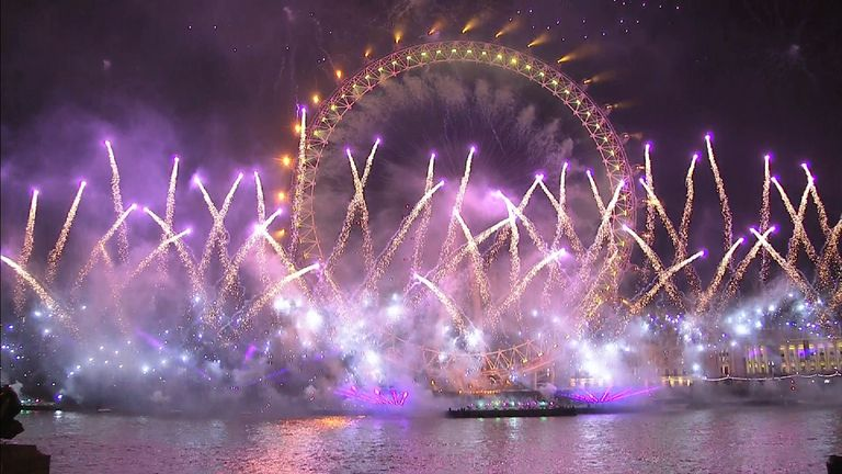 Fireworks in central London