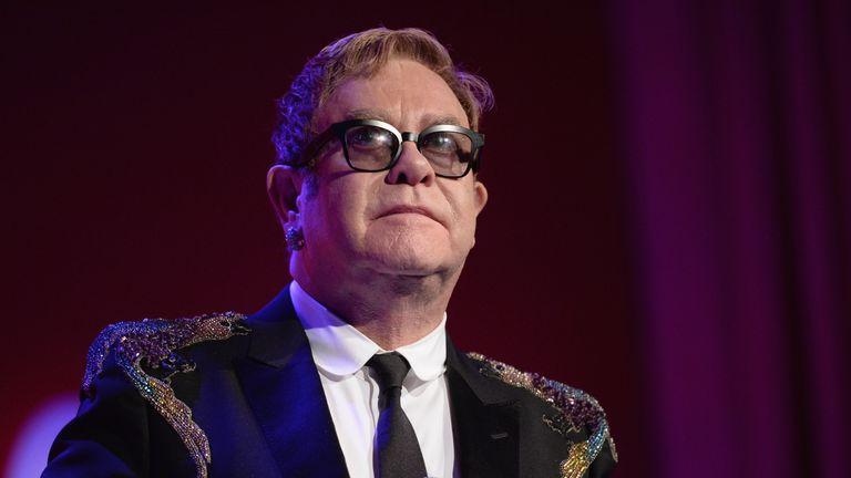 Sir Elton John performs at the 15th Annual Elton John AIDS Foundation An Enduring Vision