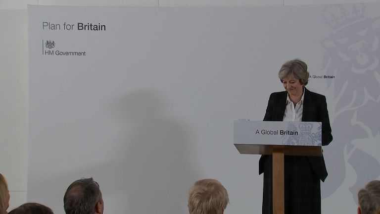 Theresa May lays out her Brexit strategy