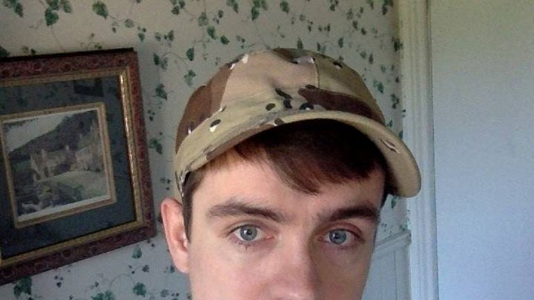 Alexandre Bissonnette, a suspect in a shooting at a Quebec City mosque, is seen in a Facebook posting