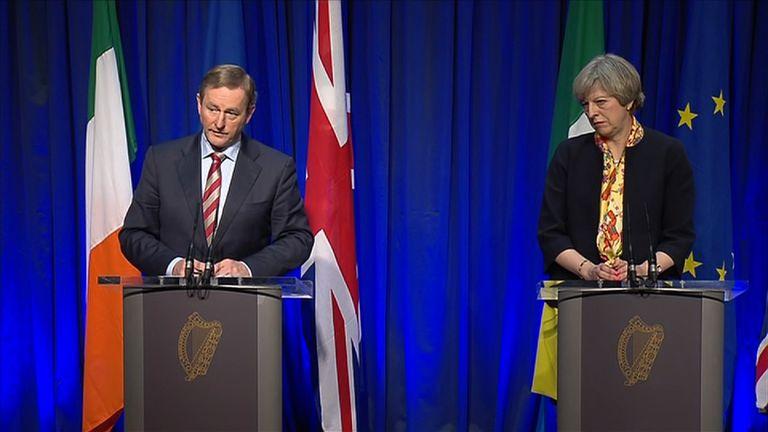 Theresa May and Enda Kenny held talks in Dublin