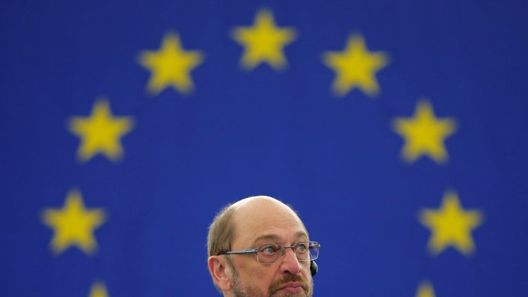 Outgoing European Parliament President Martin Schulz
