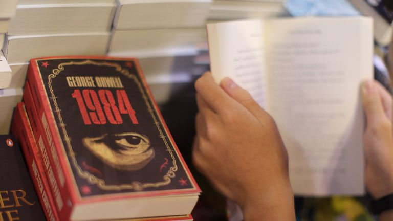 Orwell's classic is about a society that where facts are distorted