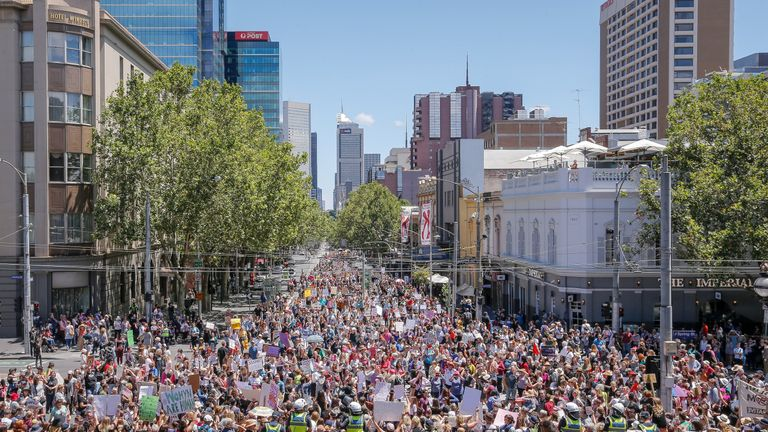 Thousands march in Melbourne