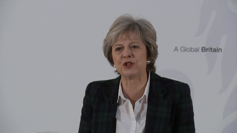 Theresa May outlines the Government's Brexit plan