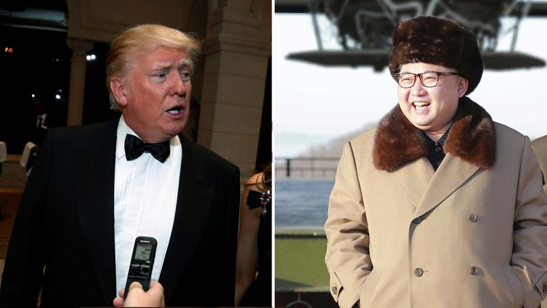 US President-elect Donald Trump and North Korean leader Kim Jong-un