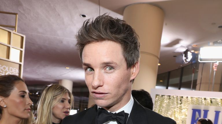 Actor Eddie Redmayne at the 74th annual Golden Globe Awards sponsored by FIJI Water at The Beverly Hilton Hotel on January 8, 2017 in Beverly Hills, California