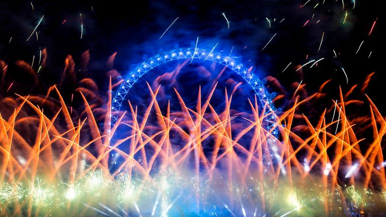 The London Eye lights up in style