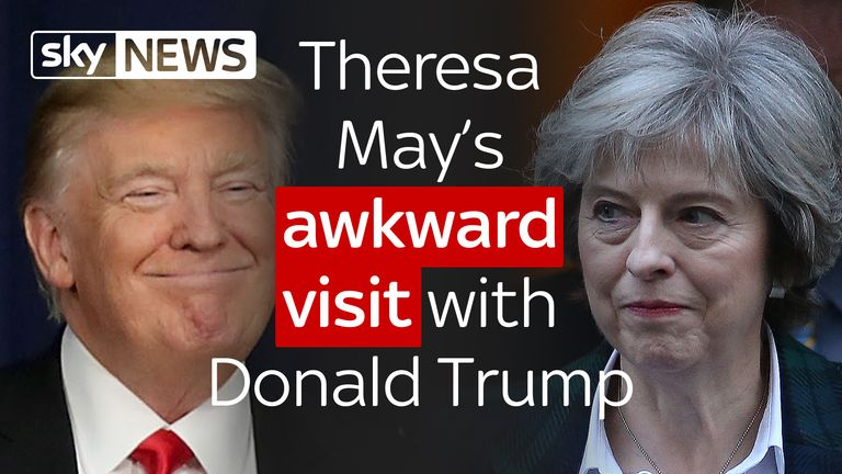 Theresa May could face an awkward visit with Donald Trump after remarks during his campaign