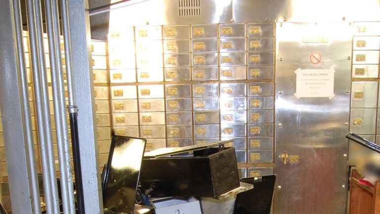 The inside of the vault at the Hatton Garden Safe Deposit company