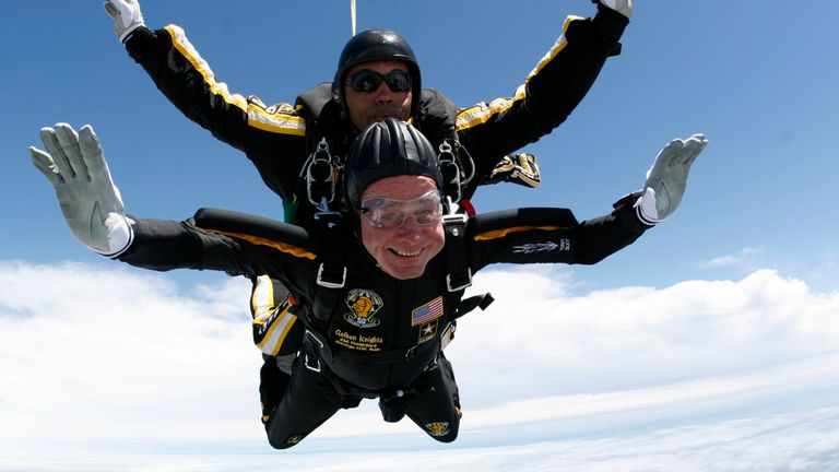 Former president George Bush senior has done a number of skydives since he retired, the last on his 90th birthday