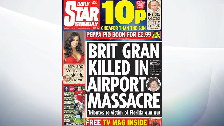 A British great-grandmother was one of five people shot dead by a former soldier at an airport in Fort Lauderdale, Florida