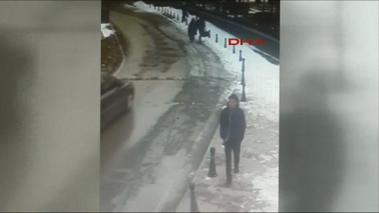Still from CCTV of suspect in Istanbul nightclub attack