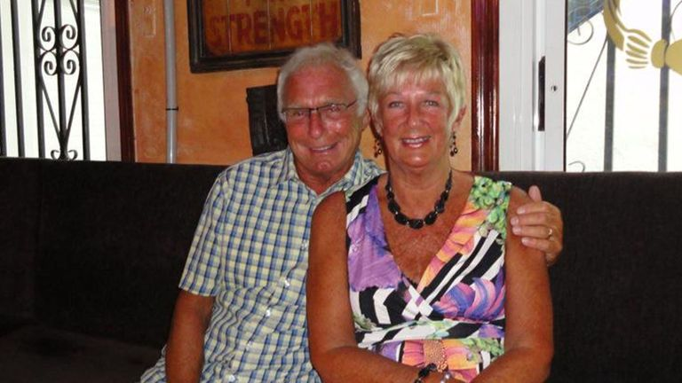 Former Birmingham City footballer Denis Thwaites, 70, and his wife Elaine, 69, who lived in Blackpool