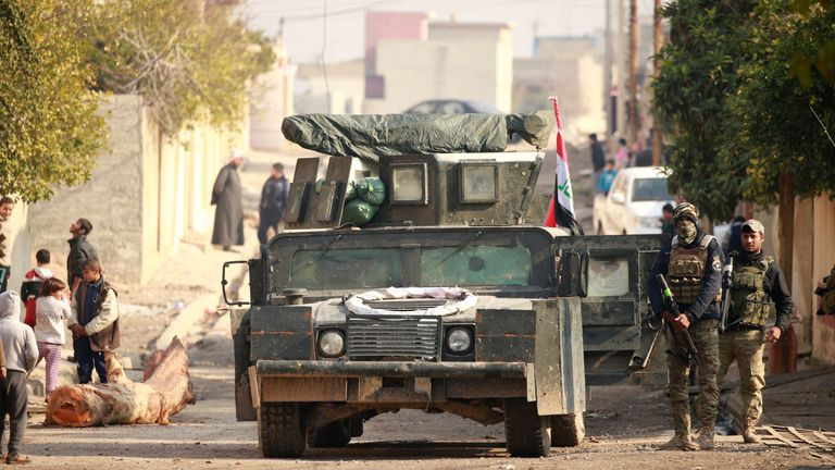 Iraqi forces advance into the Mithaq district of eastern Mosul