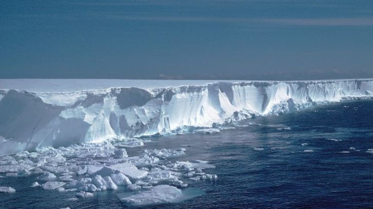 The research station is located on the Brunt ice shelf. Pic: BAS