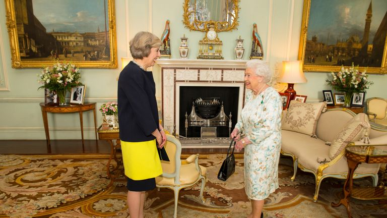 Theresa May has an audience with the Queen shortly after becoming Prime Minister