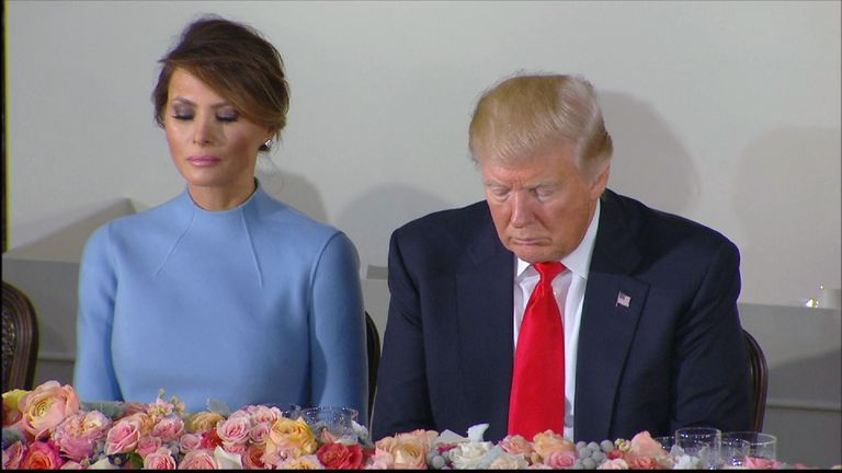 President Trump and his wife Melania