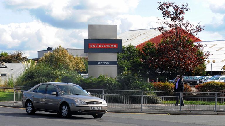 Police are investigation an incident at BAE Systems in Warton, Lancashire
