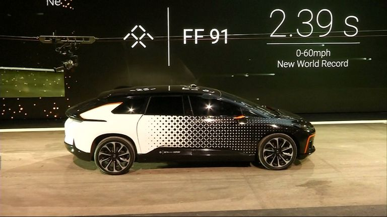 The FF91 is unveiled at the annual Las Vegas tech show