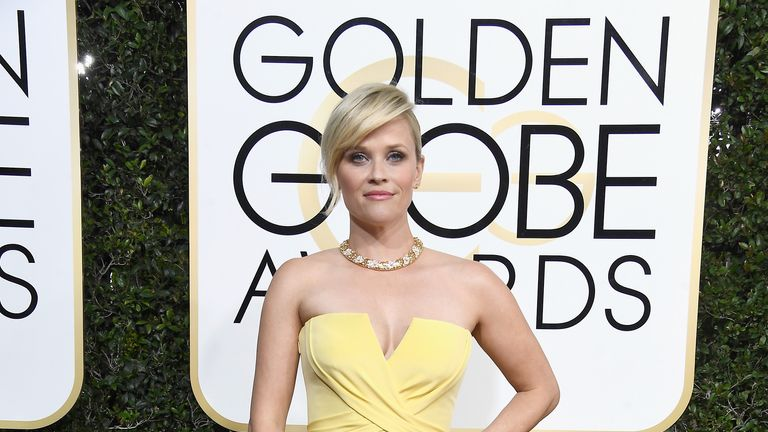 Actress Reese Witherspoon attends the 74th Annual Golden Globe Awards at The Beverly Hilton Hotel on January 8, 2017 in Beverly Hills, California