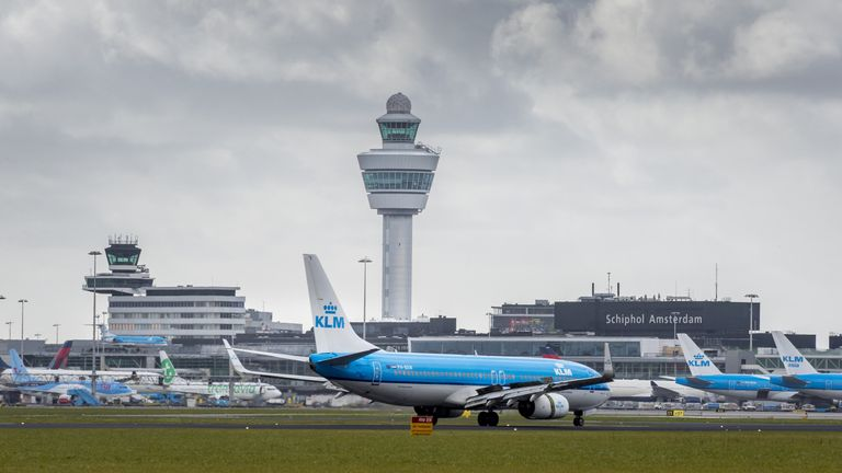The raid was carried out at Schiphol Airport in Amsterdam