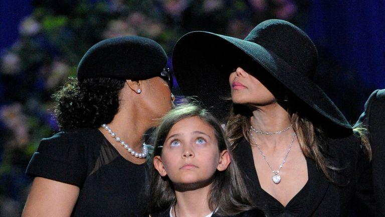 Singer Janet Jackson and Paris at Michael Jackson's memorial service