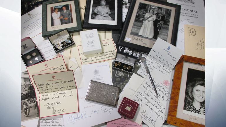 The collection of royal memorabilia being auctioned