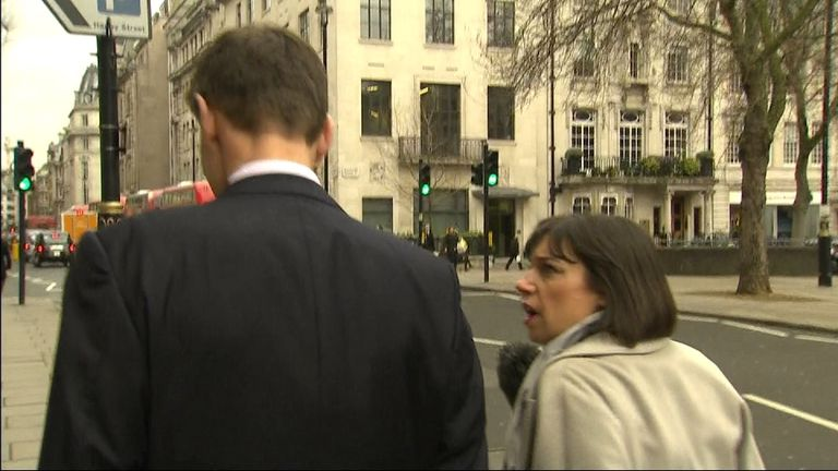 Jeremy Hunt MP does his best to avoid Beth Rigby's questioning