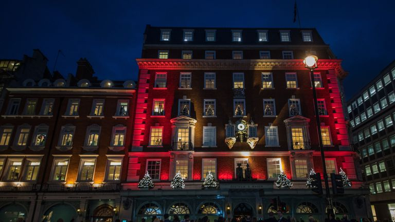 Fortnum & Mason in Piccadilly, central London