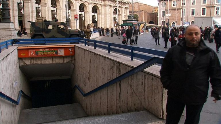 Rome's metro was evacuated following the quakes