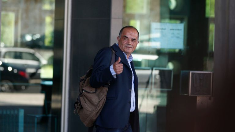 Goncalo Amaral leaving a court in Lisbon in 2014