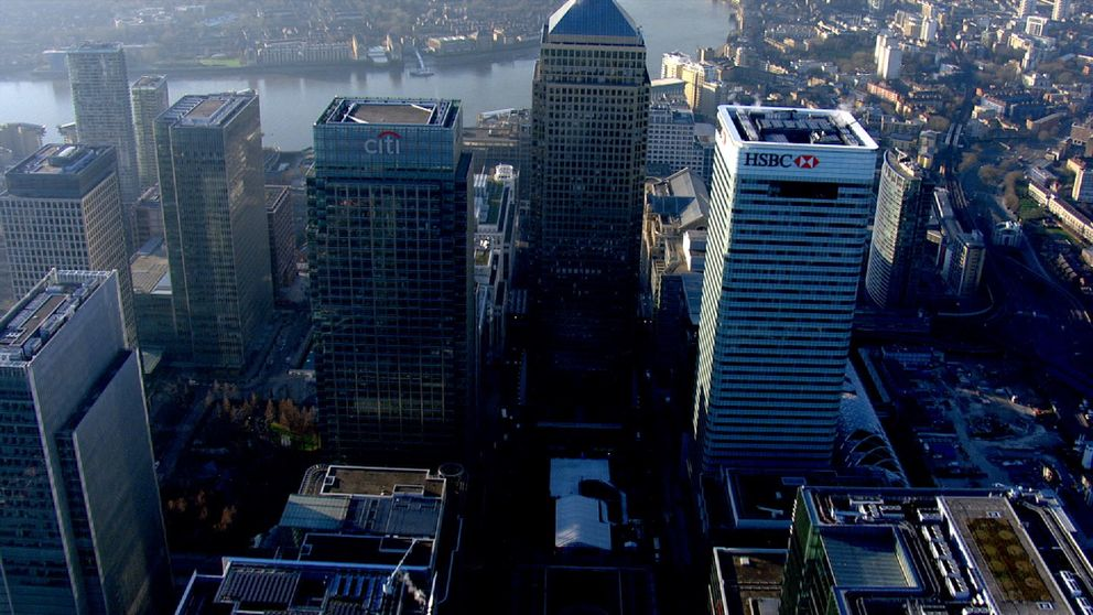 London's banking sector skyline