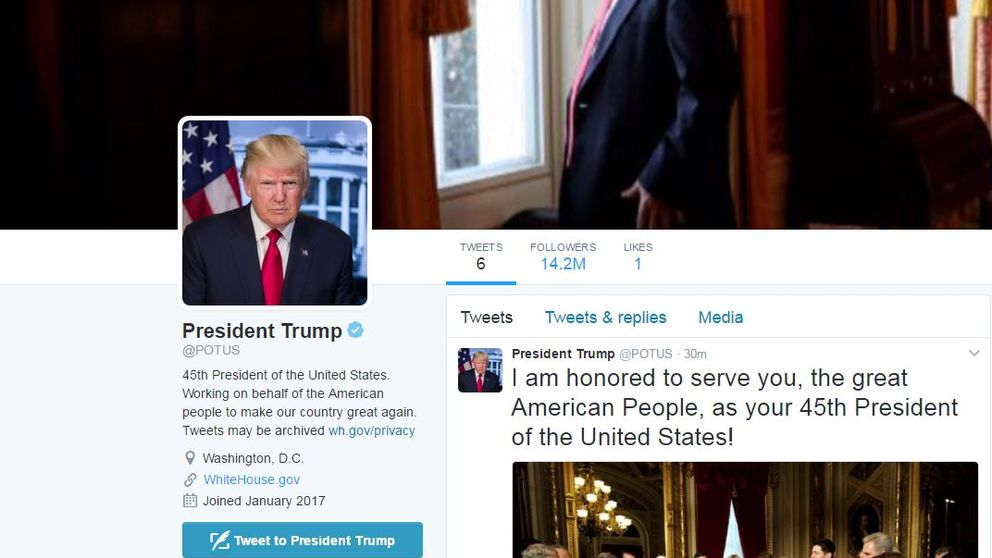 Donald Trump has taken over the @Potus account