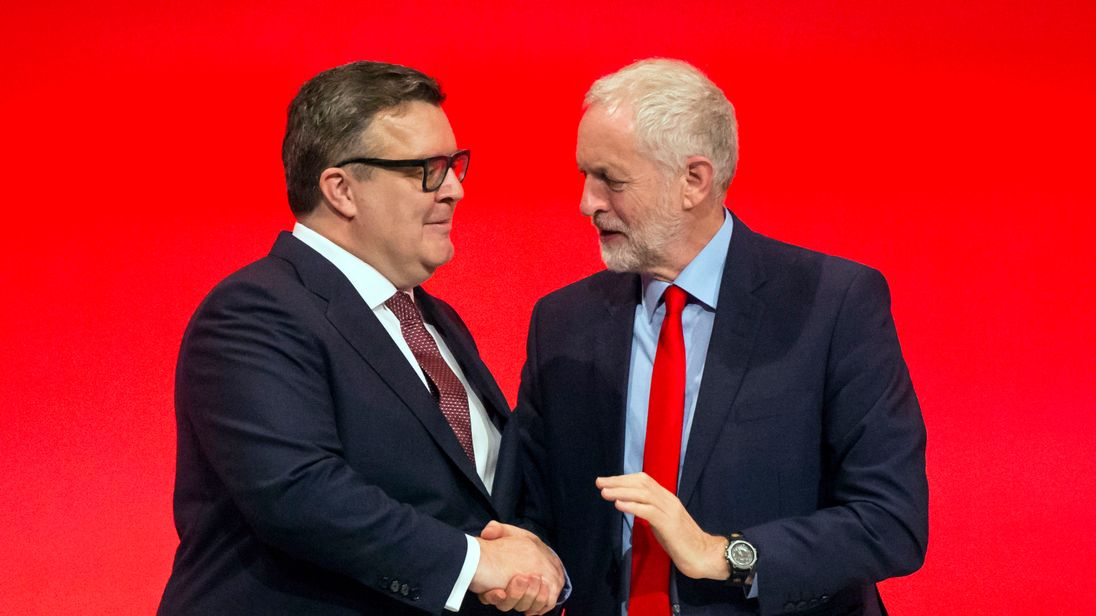 Labour leader Jeremy Corbyn and his deputy Tom Watson at the Labour Autumn Conference at the ACC Liverpool in September 2016