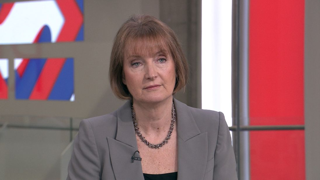 Harriet Harman talks to Sophy Ridge on Sky News