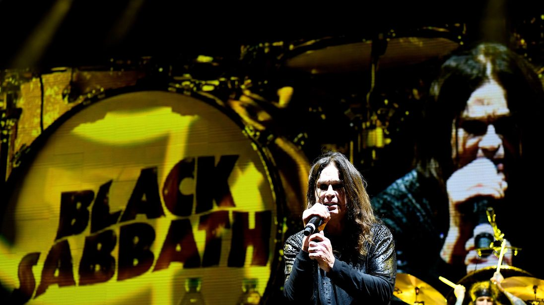 Ozzy Osbourne of Black Sabbath performs at Ozzfest 2016 at San Manuel Amphitheater in 2016