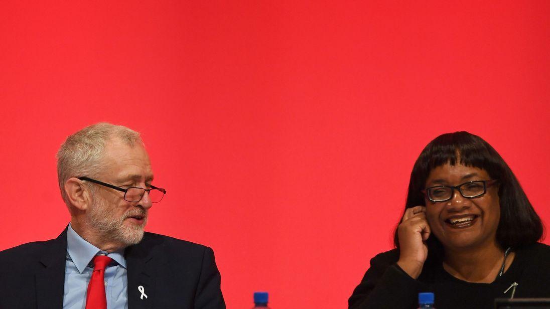 Jeremy Corbyn is under pressure over Diane Abbott