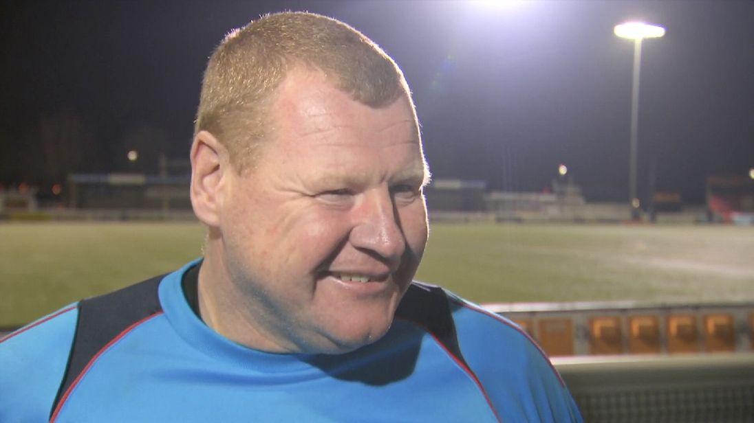 Wayne Shaw talking to Sky Sports on Monday night