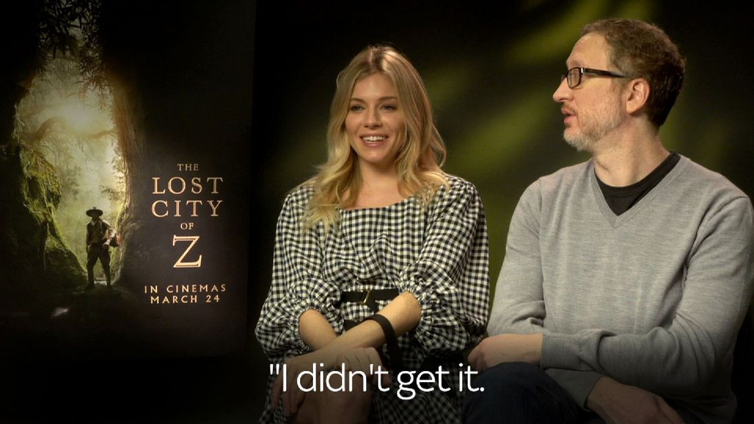 Sienna Miller and director James Gray of Lost City of Z